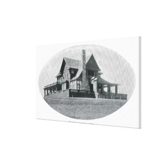 Exterior View of the Topeka Country Club Canvas Print
