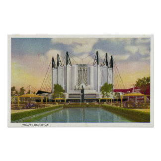 Exterior View of the Travel Building Poster