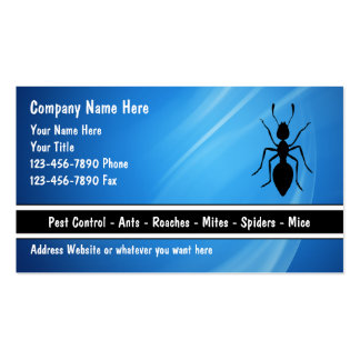 Exterminator Business Cards