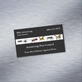 Exterminator Pest Control Insects Bugs Magnetic Business Card
