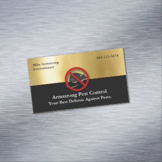 Exterminator Pest Control Mouse Rodents Magnetic Business Card