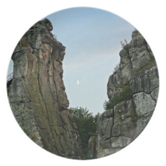 Externsteine in twilight plate