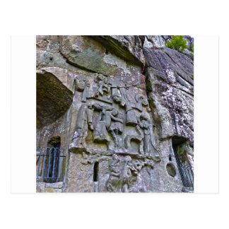 Externsteine, stone carving postcard