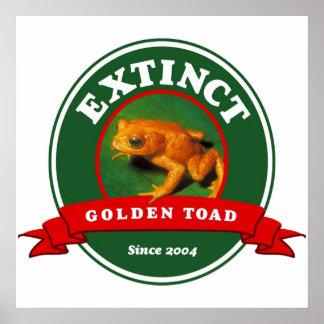 Extinct Golden Toad Poster