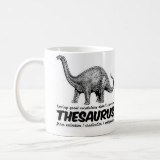 Extinct Thesaurus Coffee Mug