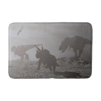 Extinction of dinosaurs - 3D render Bath Mat