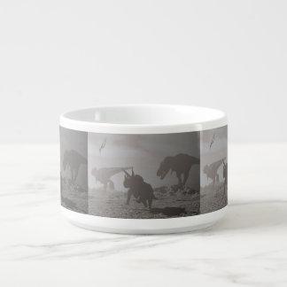 Extinction of dinosaurs - 3D render Bowl
