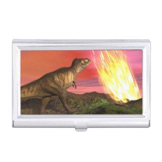 Extinction of dinosaurs - 3D render Business Card Holder