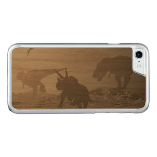Extinction of dinosaurs - 3D render Carved iPhone 8/7 Case