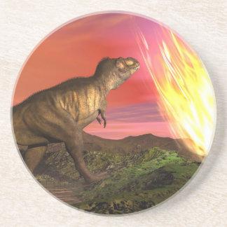 Extinction of dinosaurs - 3D render Coaster