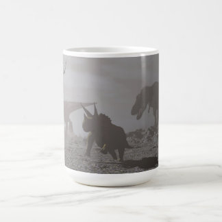 Extinction of dinosaurs - 3D render Coffee Mug