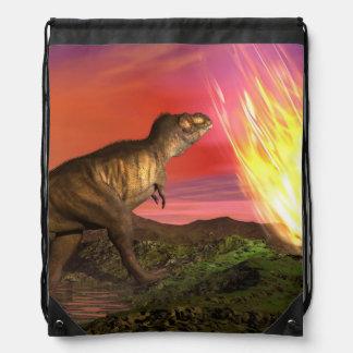 Extinction of dinosaurs - 3D render Drawstring Bag