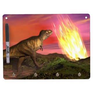 Extinction of dinosaurs - 3D render Dry-Erase Boards