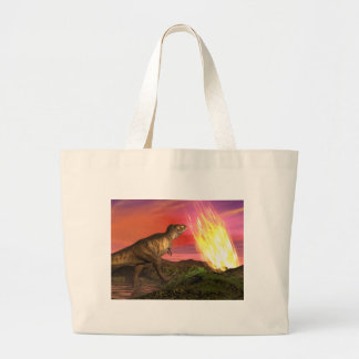 Extinction of dinosaurs - 3D render Large Tote Bag
