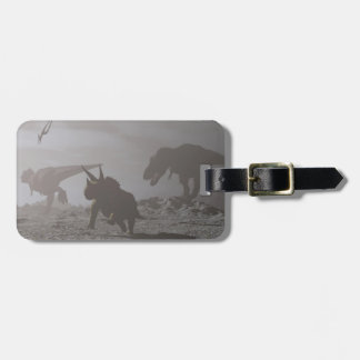 Extinction of dinosaurs - 3D render Luggage Tag