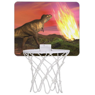 Extinction of dinosaurs - 3D render Mini Basketball Hoop