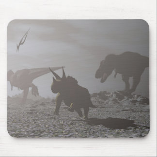 Extinction of dinosaurs - 3D render Mouse Pad