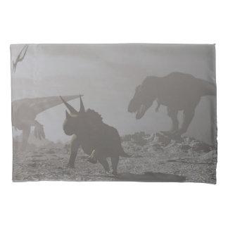 Extinction of dinosaurs - 3D render Pillowcase
