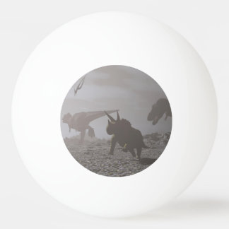 Extinction of dinosaurs - 3D render Ping Pong Ball