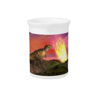 Extinction of dinosaurs - 3D render Pitcher