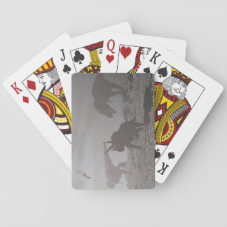 Extinction of dinosaurs - 3D render Playing Cards
