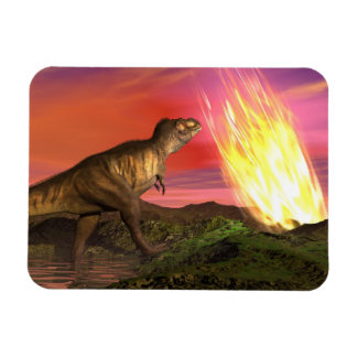 Extinction of dinosaurs - 3D render Rectangular Photo Magnet