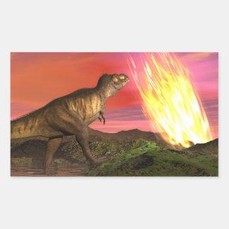 Extinction of dinosaurs - 3D render Sticker