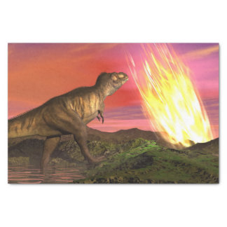 Extinction of dinosaurs - 3D render Tissue Paper