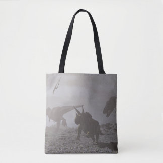 Extinction of dinosaurs - 3D render Tote Bag
