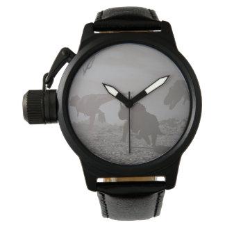 Extinction of dinosaurs - 3D render Wristwatch