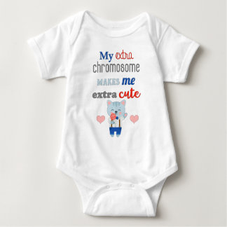 Extra Chromosome, Extra Cute Cat Baby Bodysuit