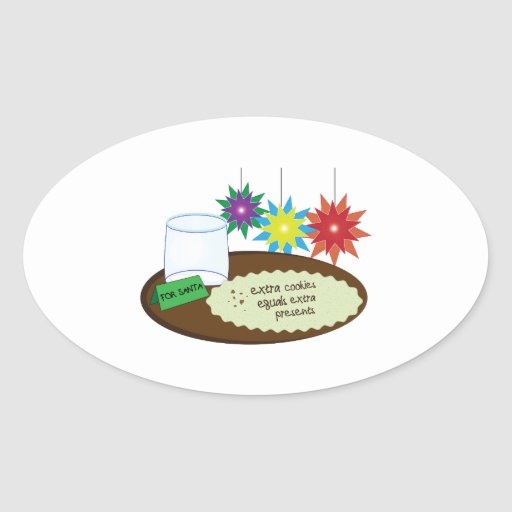 Extra Cookies Oval Stickers