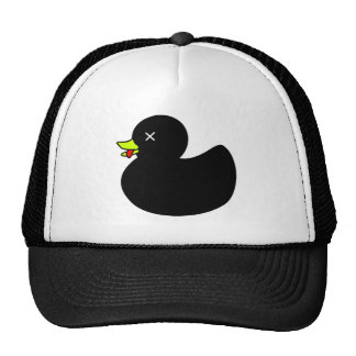 Extra Dead Rubber Duck with Tongue Hanging Out Hats