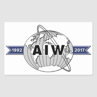 Extra Large AIW 25th Anniversary Logo, 4 Per Sheet