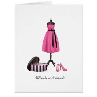 Extra Large B my Bridesmaid Card