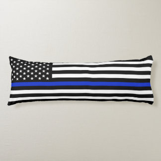 Extra Long Thin Blue Line Police Flag Body Pillow