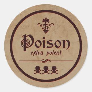 Extra Potent Poison | Halloween Label Round Sticker