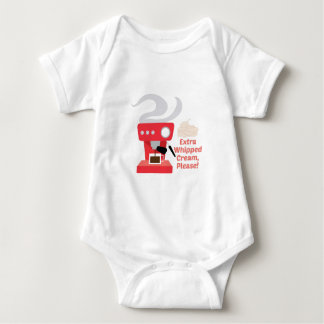 Extra Whipped Cream Baby Bodysuit