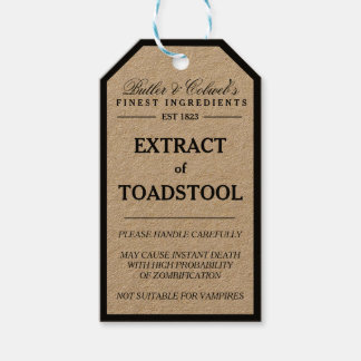 Extract of Toadstool Halloween apothecary tag Pack Of Gift Tags