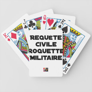 EXTRAORDINARY PROCEDURE AGAINST JUDGMENT, MILITARY BICYCLE PLAYING CARDS