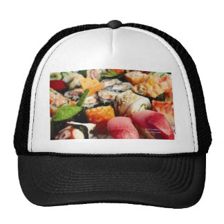 Extraordinary Sushi Plate Print Gifts Tees & Cards Trucker Hat