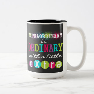 Extraordinary Teacher Quote Chalkboard Mug