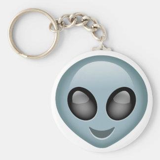 Extraterrestrial Alien Emoji Basic Round Button Keychain