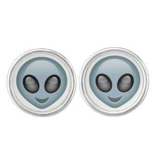 Extraterrestrial Alien Emoji Cufflinks