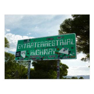 Extraterrestrial Highway Sign, Rachel Nevada Postcard