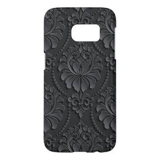 Extravagant black Flower Design Samsung Galaxy S7 Case