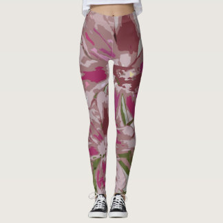Extravagant multicolored put-went for women leggings