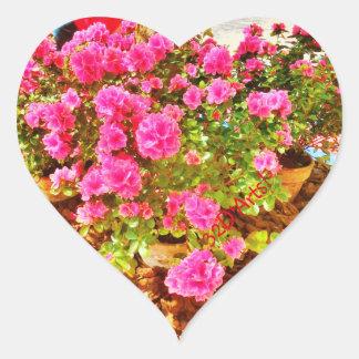 Extravaganza in Pink, Heart Stickers, Glossy Heart Sticker