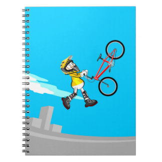 Extreme acrobatics in a bicycle BMX Notebooks