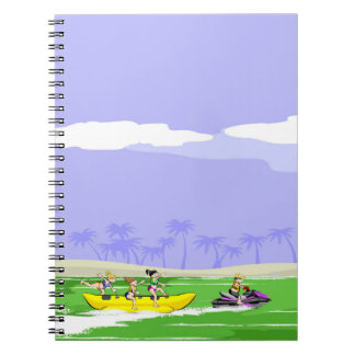 Extreme acrobatics in a boat banana notebook